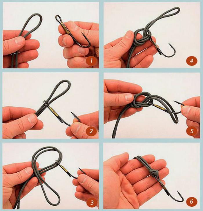 Как завязать рыболовный крючок