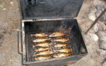Самодельная коптилка для рыбы